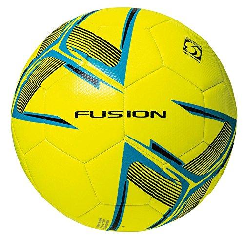 Precision Unisex Youth Fusion IMS - Balón de fútbol de Entrenamiento, Color Amarillo Fluo/Azul/Negro...
