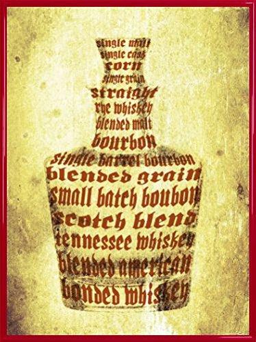 1art1 Whiskey Poster Kunstdruck und Kunststoff-Rahmen - Whisky Sorten (80 x - Kunststoff-jack Daniels Flasche