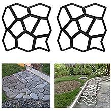 HG® Molde para pavimento de adoquines, molde para acera, molde de empedrado