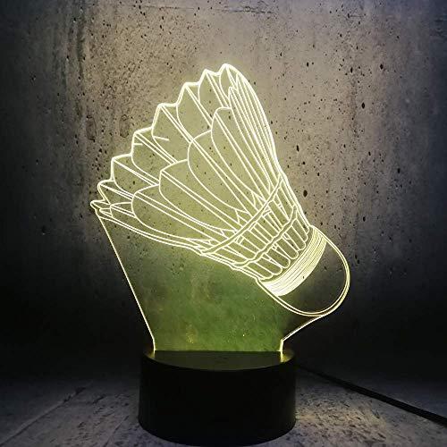 icht 3D Lampe Sport Dekoration Lampe Schlafzimmer Schlaf Licht Teenager Sport Fans Geschenke Birne Raum Dekor Birne ()