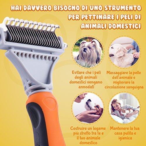 Zoom IMG-3 topelek spazzola per animali domestici
