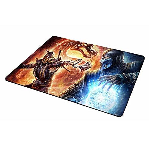Mortal kombat grande jugadores alfombrilla de ratón antideslizante almohadilla de goma del 837 (285 mm x 250 mm, Naranja Azul)