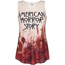 Canotta American Horror Story Blood donna crema