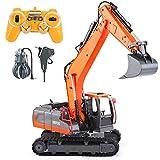 VATOS Fernbedienung Bagger und Bagger Spielzeug, 1:16 RC LKW Baufahrzeuge Traktor für Jungen und Mädchen