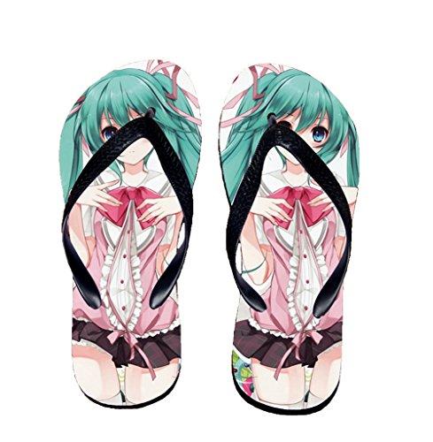 Bromeo Hatsune Miku Anime Unisexe Flip Flops Tongs 158