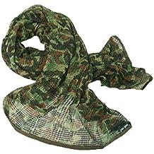 a4d338a0ad8e FLAMEER Tactique Militaire Multifonctionnel Coton Cam Scrim Foulard Visage  Masque Voile