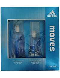 wholesale dealer 4d96b ca547 Adidas Moves for women Eau De Toilette spray 1oz.+0.5 oz Gift set.
