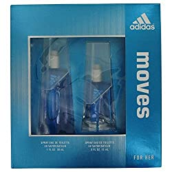Adidas Moves for women Eau De Toilette spray 1oz.+0.5 oz Gift set.Rare