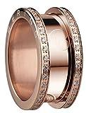 Bering Damen-Ring Edelstahl teilvergoldet Zirkonia weiß Gr. 60 (19.1)-523-37-94