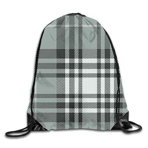 HLKPE Drawstring Backpacks Bags Daypacks,Old Fashioned Plaid Tartan In Dark Colors Classic English Tile Symmetrical,5 Liter Capacity Adjustable for Sport Gym Traveling