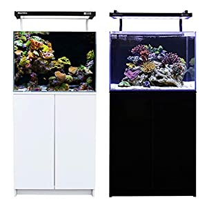 Aqua One MiniReef 120 Aquarium & Cabinet 120L Black & White (black)
