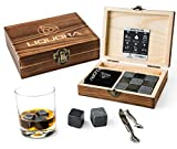 Whisky Stones Gift Set - 9 Whiskey Rocks - Present for Dad, Husband