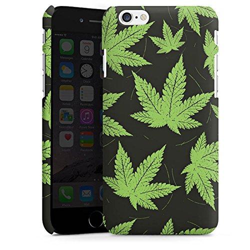 Apple iPhone 5 Housse étui coque protection Feuille de chanvre Feuille de cannabis Vert Cas Premium mat