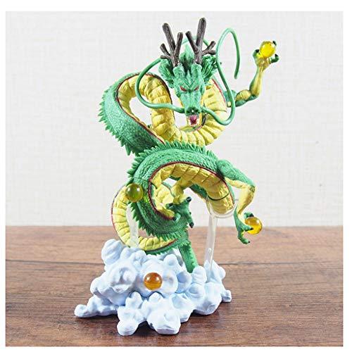 LLKOZZ Dragon Ball Juguete Estatua Shenlong Modelo de Anime, decoración de Oficina en casa de Juguete -15CM Juguete (Color : Verde)
