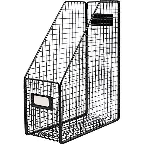 ZZJC Schmiedeeisen Magazin Frame Datei Datei Separator Schrank Rack Display Und Storage Manager Box Schwarz (11,5 cm * 25 cm * 32 cm) -