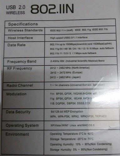 Wifi wifi 600Mbps USB WiFi Dongle 600Mbps Wireless Adapter 802.11n/g/b...