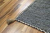 Natur Teppich Bauwolle Kelim Prico Ivory Beige in 8 Größen