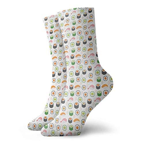 Jxrodekz Socken Mustard Fish Sushi Women & Men Socken Soccer Sock Sport Tube Stockings Length 11.8Inch