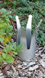 Krone S Pflanzkübel und Rankhilfe, Deko aus Edelstahl. Übertopf Pflanzkübel Deko – Witterungsbeständig statt Rostoptik – Garten Metall ohne Rost