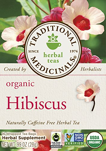 Traditional Medicinals Organic Hibiscus, 16-Count Boxes