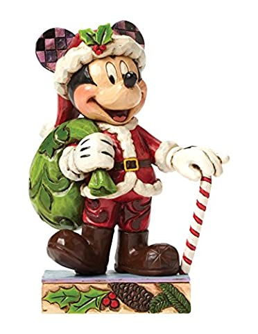 Disney Traditions Holiday Cheer Mickey Mouse Figurine - Enesco Natale