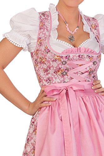 Trachten Minidirndl 2tlg. - AGNES - apricot, rosa Rosa