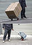 Einkaufstrolleys Aluminium faltender tragbarer Gepäck-Wagen-Leichte Reise-Hand-LKW-Hochleistungs-und Transportwagen (Farbe : SCHWARZ)
