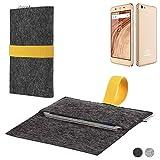 flat.design Handy Hülle Aveiro für Blaupunkt SL02 passgenaue Filz Tasche Case Sleeve Made in Germany