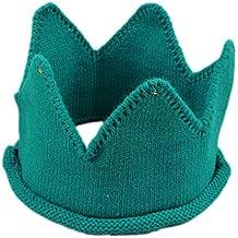 Leisial Corona Sombrero de Copa Vacía Knit Princesa Gorras Casquillo Gorra  Adorable de Fotografía para Bebé 14a06ccfb0e