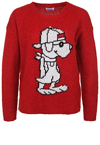 Unbekannt Grace Damen Strickpullover RED Champ red M (Champ Snoopy)