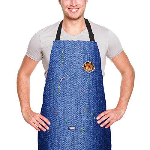 Lustige Küchenschürze 3D Meerschweinchen Mode gedruckt Schürzen Kochen BBQ Backen Keramik und Grillen Schürzen Party Cosplay Kostüm Bestes Geschenk für - Meerschweinchen Tragen Kostüm