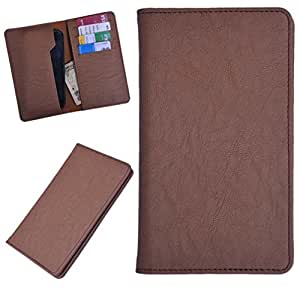 DCR Pu Leather case cover for Micromax canvas colour A120 (brown)