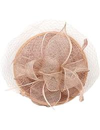 Fenteer Damen Feder Fascinator Haarreif Haarschmuck Kopfbedeckung für Hochzeit Kirche Cocktailsparty