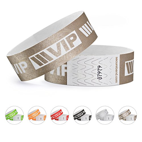 linie zwo®, 100er Pack Securebänder Tyvek® 19 mm - VIP New Design, Gold