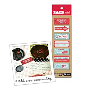70/Pc. Red & Blue SMASH Stickies 30614987