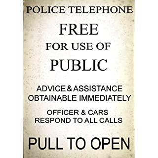 American Vinyl Vintage Police Telephone Call Box Aufkleber (dr Who TV Funny)