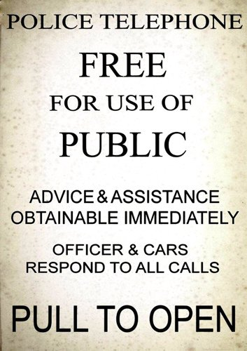American Vinyl Vintage Police Telephone Call Box Aufkleber (dr Who TV Funny) American Telephone