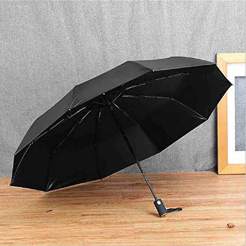 LZBDKM 10 Exfoliante de Paraguas de Sol de Negocios Simple automático Completo con Pegamento Negro para agrandar Paraguas de Regalo Paraguas publicitario.
