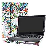Alapmk Specialmente Progettato PU Custodia Protettiva in Pelle Per 15.6' Acer Spin 5 15 SP515-51GN SP515-51N & Acer Nitro 5 Spin NP515-51 Series Notebook (Non compatibili con: Spin 5 13.3 Series),Love Tree