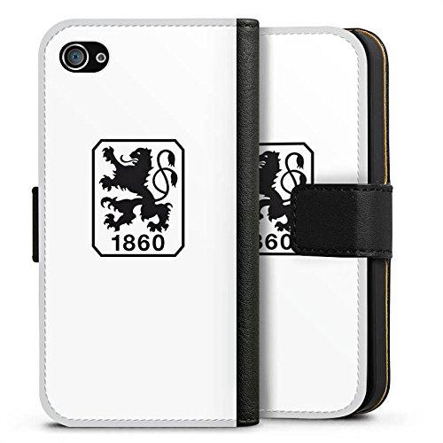 Apple iPhone X Silikon Hülle Case Schutzhülle TSV 1860 München Fanartikel Bundesliga Fussball Sideflip Tasche schwarz
