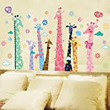 Rainbow Fox Bunte Giraffe Wandaufkleber / Weihnachten Wandtattoo für Ihr Kinderzimmer / Wohnzimmerdekoration (Giraffe)
