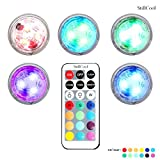 5 Sets Remote Control Mini RGB LED Tea Lights,StillCool Multi Color Option Battery-Powered, Unscented Waterproof Tealight, RGB Light Weddings Christmas Party Lights