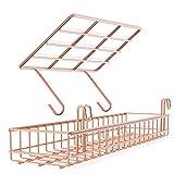 JZSPDT Cestino/mensola per griglia di griglia, Fai-da-Te Multi-Funzione Parete griglia Oro Rosa Decorazione 40 * 10 * 5/25 * 10 * 8 cm