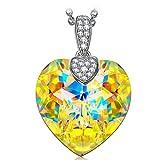 Best Coeur de cristal de rêve Pour cadeau de coeur pour un an Filles - NINASUN Rêve Fantastique Argent 925 Coeur Collier Pendentif Review