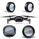 Haihuic 3 Stück Linsenfilter-Kit für DJI Mavic Air Drone Quadcopter, ND8 / CPL/UV-Filter, Kratzfestes optisches Glas (Schwarz)