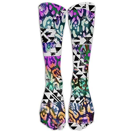 uytrgh ZPENG World Flags Sock Classic Fancy Multi Colorful Crew Knee High Socks Running Soccer Large (Shoe Size 38-44) for Men And Women (Long 50cm Colorful 2993