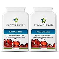 KRILL OIL MAX - Omega 3 Organico Marine Capsule di Olio di Pesce - Sano Articolazioni Cuore e Cervello ! Studi di Scienziati Dimostrano Che Gli Oli Di Pesce Omega3 Possono Aiutare Con Funzione Di Memoria e Ridurre il Rischio di Demenza e Malattia di Alzheimer ! gratuito dieta e sana alimentazione di ogni ordine - 120 x Compresse Super Forti Omega-3