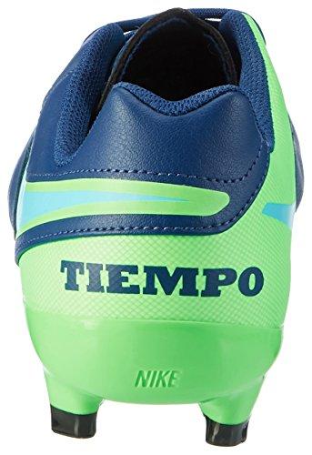 Nike  Tiempo Genio Ii Leather Fg, Chaussures de foot pour homme Bleu (Coastal Blue/Rage Green/Polarized Blue)