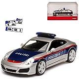 Porsche 911 991 Carrera II Coupe Polizei Österreich Modell Ab 2012 Ab Facelift 2015 H0 1/87 Herpa Modell Auto mit individiuellem Wunschkennzeichen