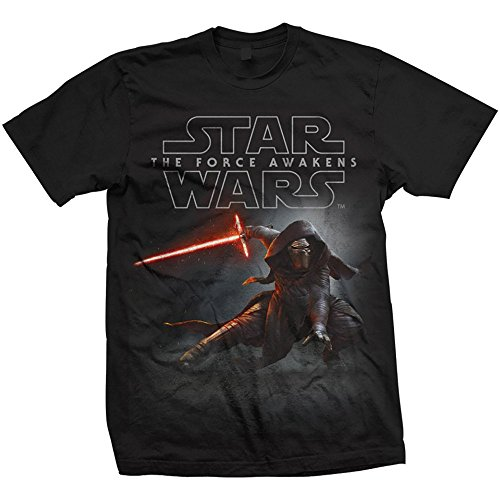 Rockoff Trade Episode VII Kylo REN Crouch, Camiseta para Hombre, Negro X-Large